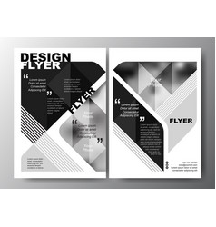 minimal modern poster brochure flyer design layout vector image