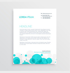 Modern blue circles letterhead template design vector