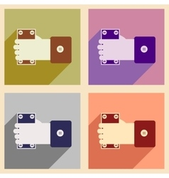 Modern collection flat icons with shadow Money in vector