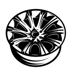 Monochrome with cast disk vector