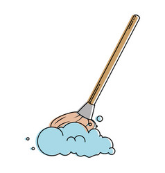 mop clean isolated icon vector image
