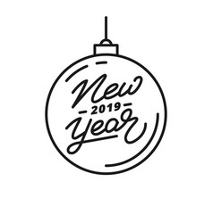 new year 2019 happy new year 2019 hand lettering vector image