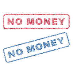 No money textile stamps vector