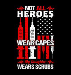 nurse t shirts design typographic quotes vector image
