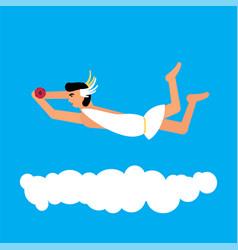 Olympic god hypnos flat style vector