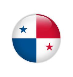 Panama flag on button vector