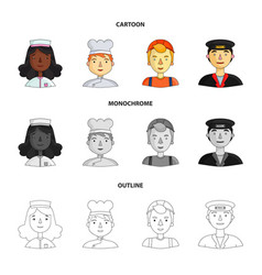 People of different professions set collection vector