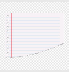portion of the sheet of paper in a line isolated vector image