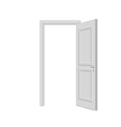 Realistic door isolated on white background vector