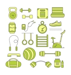 Set of sports elements vector image