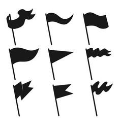 set vintage flag icons design element for vector image