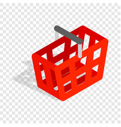 Shopping cart isometric icon vector