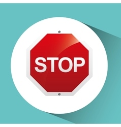 sign traffic stop icon design vector image