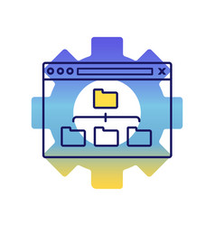 Sitemap optimization color icon vector