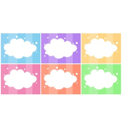 Six empty templates vector image