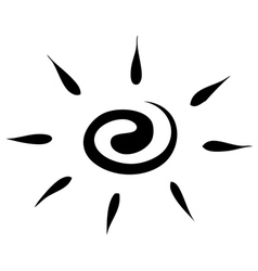 Sketch sun on a white background icon vector image