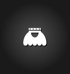 skirt icon flat vector image