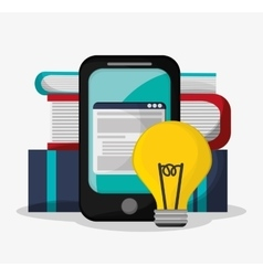 Smartphone and social media design vector