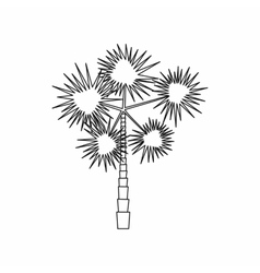Spiny tropical palm tree icon outline style vector