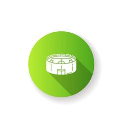 stadium green flat design long shadow glyph icon vector image