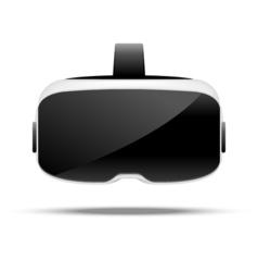 Stereoscopic 3d vr virtual digital cyberspace vector