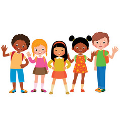 stock cartoon of a group of children vector image