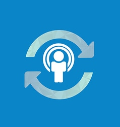 Synchronize user icon update icon with man in the vector