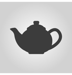 The teapot icon Tea symbol Flat vector image
