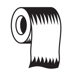 Toilet paper icon5 resize vector image