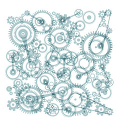 transparent cogs gears on white background vector image