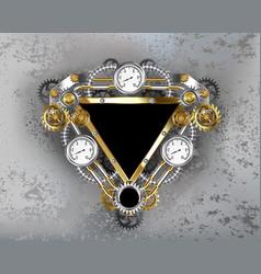 triangular industrial banner vector image