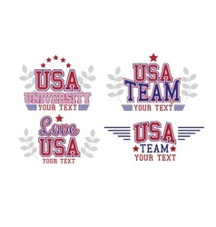 USA Badges Set vector image