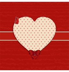 valentine heart label background vector image