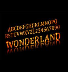 wonderland font fairy abc vector image