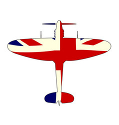 World war 2 fighter union jack silhouette vector