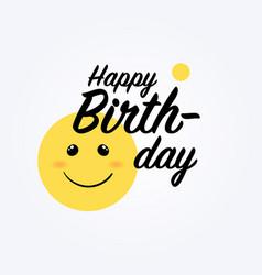 yellow smile emoji vector image