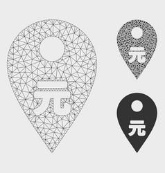 Yuan map marker mesh carcass model and vector
