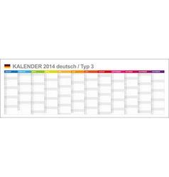 Calendar 2014 German Type 3 vector image vector image