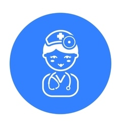 Doctor black icon for web and mobile vector