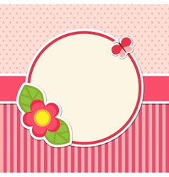 Frame with flower vector image
