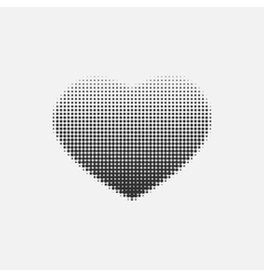 Halftone heart on a white background vector image vector image