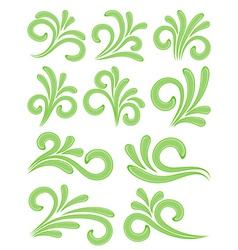 nature design elements vector image vector image