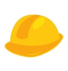 helmet builder silhouette icon vector image