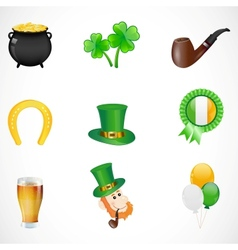 st patricks day icons vector image