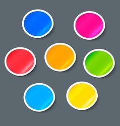 Stickers Label Design Elements Set vector image vector image