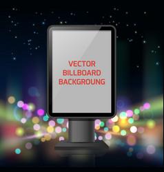 street advertisement vertical banner vector image