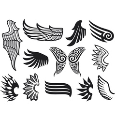 wings collection vector image vector image