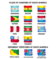 flags of south america countries vector image