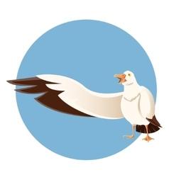 Happy greeting albatross vector image vector image