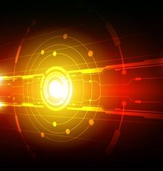 hi tech line background design vector image